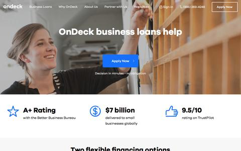 Small Business Loans and Business Credit Insights from On Deck Capital