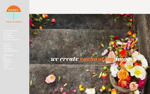 Screenshot of Home Page poppycreativeagency.com - Poppy Creative Agency - captured May 18, 2017