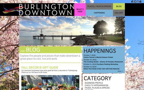 Screenshot of Blog burlingtondowntown.ca - Burlington Downtown   Blog - captured Oct. 7, 2018