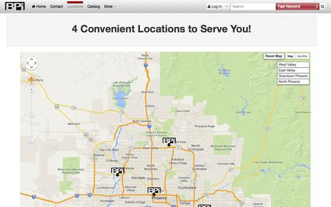 Screenshot of Maps & Directions Page bpisite.com - BPI · Map - captured Oct. 5, 2014