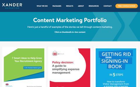 SaaS Content Marketing Examples | Xander Marketing