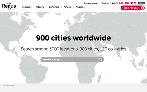 Screenshot of Locations Page regus.com - Rent Office Space and Virtual Offices in Dublin, Cork, Limerick | Regus United States - captured Nov. 2, 2016