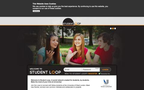 Screenshot of Home Page student-loop.com - Student Loop - Are You In The Loop? - captured Oct. 8, 2014