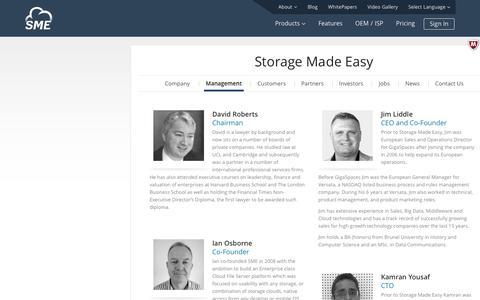 Management   StorageMadeEasy