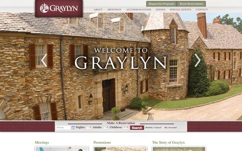 Screenshot of Home Page graylyn.com - Graylyn - captured Oct. 1, 2014