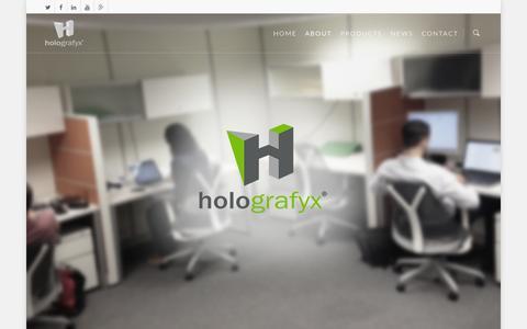 Screenshot of About Page holografyx.com - About |  Holografyx International - captured Oct. 2, 2014