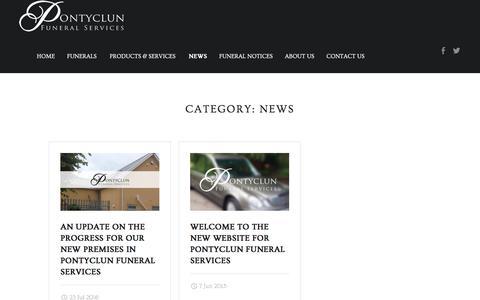 Screenshot of Press Page pontyclunfuneralservices.com - News – Pontyclun Funeral Services - captured Aug. 14, 2017