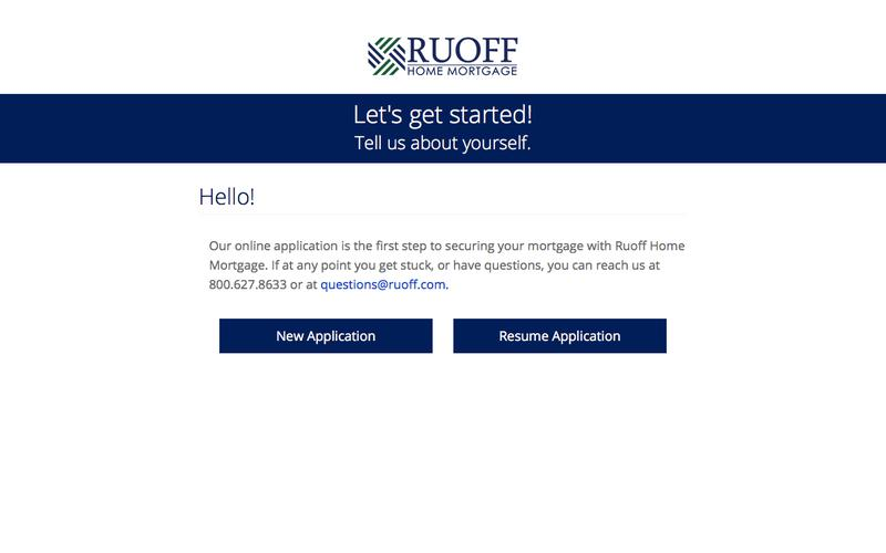 Home Loan Application | Ruoff Home Mortgage