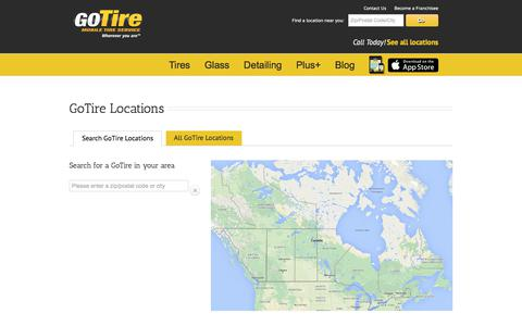 Screenshot of Locations Page gotire.com - GoTire Locations In the US & Canada | GoTire - captured Aug. 19, 2017