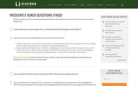 Screenshot of FAQ Page hwd3d.com - FAQ - Heartwood - captured Nov. 6, 2016
