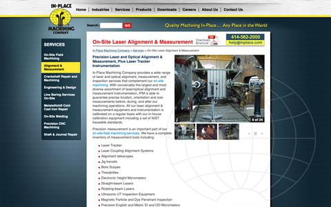 Screenshot of Services Page inplace.com - Laser Alignment & Measurement On-Site, Optical Alignment & Measurement - captured Oct. 2, 2018