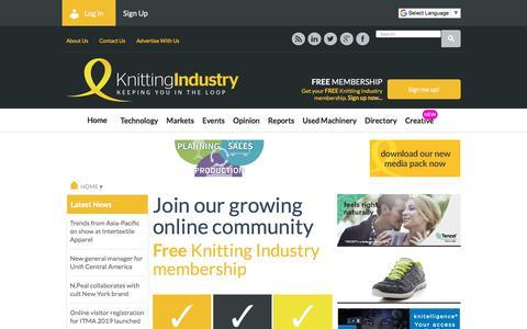 Screenshot of Signup Page knittingindustry.com - Register - captured Sept. 20, 2018