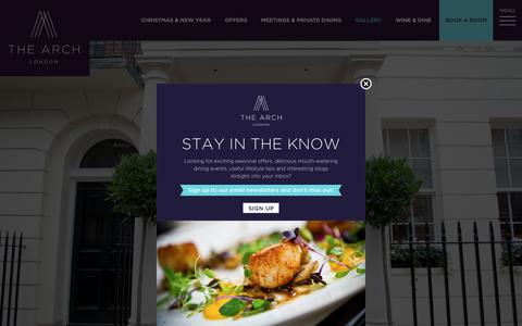Screenshot of Jobs Page thearchlondon.com - Careers at The Arch London - F&B, Kitchen, Maintenance and Reservations - captured Nov. 16, 2018