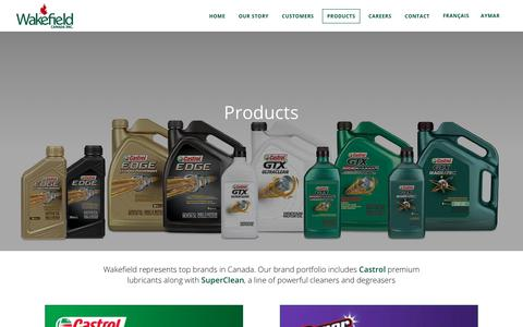 Screenshot of Products Page wakefieldcanada.ca - Wakefield Brands - Wakefield Canada - captured July 17, 2017