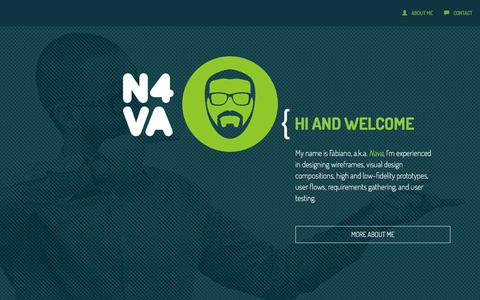 Screenshot of Home Page n4va.com - UX/UI Portfolio by N4VA - Telling stories with pixels - captured Feb. 22, 2016