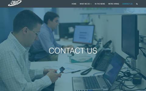 Screenshot of Contact Page i-360.com - CONTACT US - i-360 - captured Jan. 21, 2016