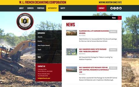 Screenshot of Press Page wlfrench.com - News - W. L. French Excavating Corporation | W. L. French Excavating Corporation - captured Jan. 19, 2016