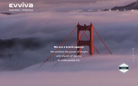 Screenshot of Home Page evvivabrands.com - Home - Evviva Brands - captured May 21, 2017