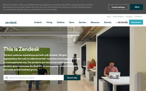 Screenshot of Jobs Page zendesk.com - Careers at Zendesk | Zendesk jobopportunities - captured July 2, 2019