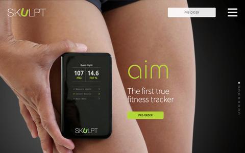 Screenshot of Home Page skulpt.me - SKULPT™ - Measures Body Fat & Muscle Quality | SKULPT.ME - captured Sept. 17, 2014