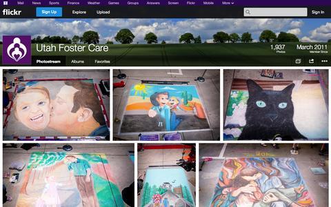Screenshot of Flickr Page flickr.com - Flickr: Utah Foster Care's Photostream - captured Oct. 26, 2014