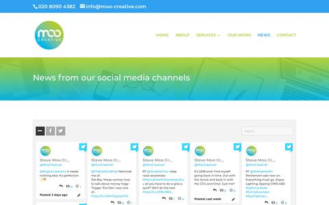 Screenshot of Press Page moo-creative.com - Social Media Wall | Moo Creative Services Ltd - captured Oct. 20, 2018