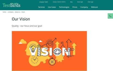 Vision   Testbirds