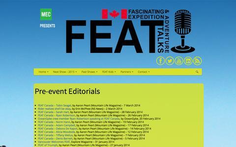 Screenshot of Press Page featcanada.ca - FEAT Canada | Media - captured Sept. 30, 2014