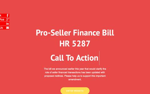 Screenshot of Home Page savesellerfinancing.org captured Oct. 2, 2018
