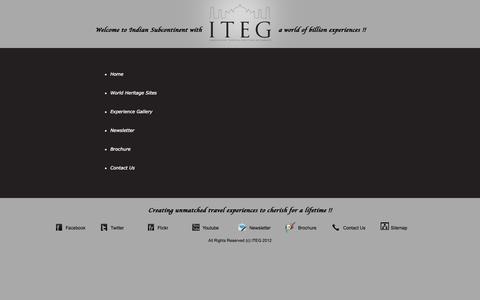 Screenshot of Site Map Page iteg.in - ITEG | Tour Operator | Unique Travel Experiences across India Bhutan Nepal & Sri Lanka - captured Oct. 27, 2014