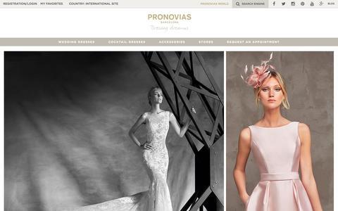 Screenshot of Home Page pronovias.com - Pronovias | Wedding dresses and Cocktail dresses - captured Dec. 12, 2015