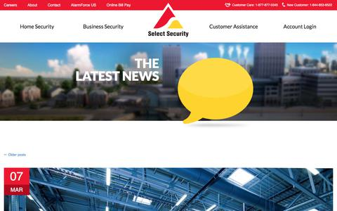 Screenshot of Blog selectsecurity.com - Security Companies  | Select Security - captured April 13, 2018
