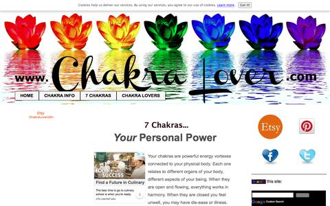 Screenshot of Home Page chakra-lover.com - 7 Chakras - How To Heal Yourself With These Powerful Energy Centers - captured Sept. 24, 2018