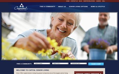 Screenshot of Home Page capitalsenior.com - Assisted Living Communities | Senior Living Communities | Capital Senior Living - captured Sept. 26, 2018
