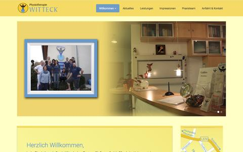 Screenshot of Home Page physiotherapie-witteck.de - Physiotherapie-Wittck-Pforzheim-Hohenwart - captured April 3, 2017
