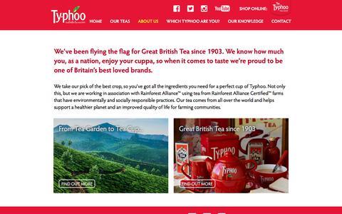 Screenshot of About Page typhoo.co.uk - Typhoo Tea   About Us - Typhoo Tea - captured Oct. 26, 2017