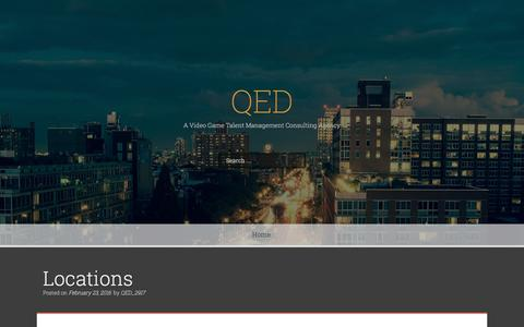 Screenshot of Locations Page qed-associates.com - Locations – QED - captured Oct. 8, 2016