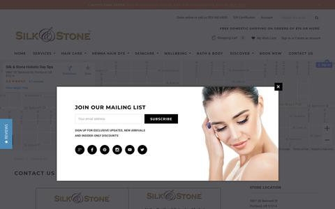 Screenshot of Contact Page silknstone.com - Contact Us! Feel free to contact us with your questions - captured Oct. 18, 2018