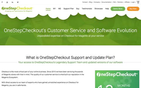 Screenshot of Support Page onestepcheckout.com - OneStepCheckout Support and Update Plan - captured Oct. 31, 2017