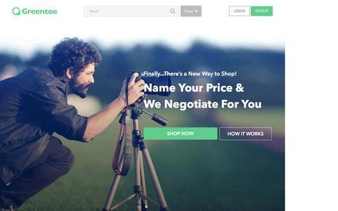 Greentoe.com - Set your price on Cameras, TVs, Appliances, Electronics and more!