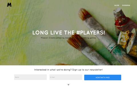 Screenshot of Home Page millenway.com - Millenway Studios | Long live the #players! - captured Aug. 15, 2015