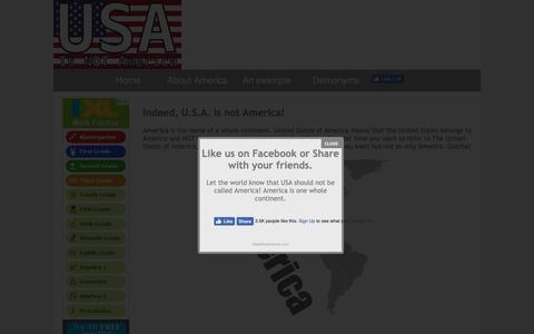 Screenshot of Home Page usaisnotamerica.com - Home - USA is Not America - The Americas is America! - captured Oct. 29, 2018
