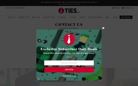 Screenshot of Contact Page ties.com - Contact Us | Ties.com - captured Oct. 2, 2015