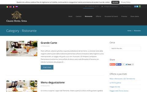 Screenshot of Menu Page grandhotelsitea.it - Ristorante Archives - Grand Hotel Sitea Torino - captured Oct. 3, 2014