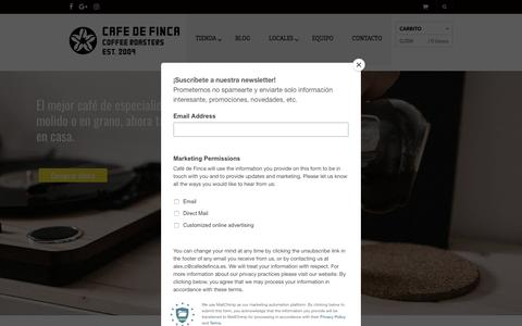 Screenshot of Home Page cafedefinca.eu - Café de Finca - Tienda Online de Café de Especialidad - captured July 6, 2018