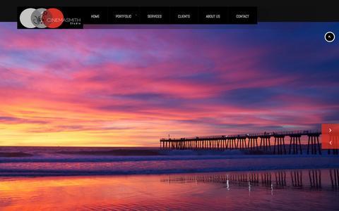 Screenshot of Home Page cinemasmithstudio.com - Cinemasmith Studio - captured Sept. 29, 2014
