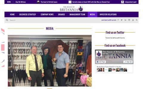 Screenshot of Press Page thehouseofbritannia.com - MEDIA | The House of Britannia - captured Feb. 25, 2016