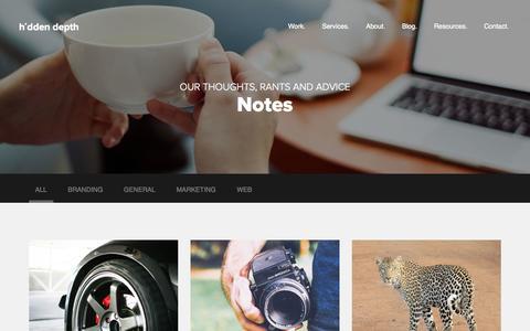 Screenshot of Blog hiddendepth.ie - Blog - Web, Design, Site Content & Business Rantings - captured Sept. 19, 2014