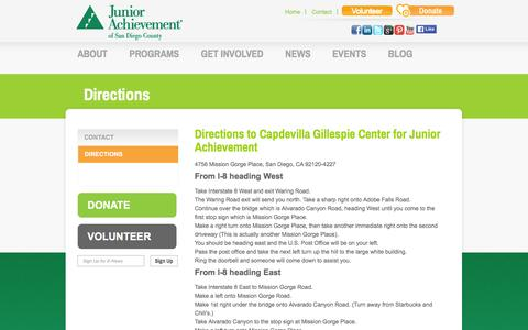 Screenshot of Maps & Directions Page jasandiego.org - Junior Achievement San Diego | Financial Literacy, Work Readiness, Entrepreneurship | Directions - captured Feb. 12, 2016