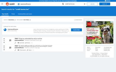 reddit.com: search results - credit+karma+tax